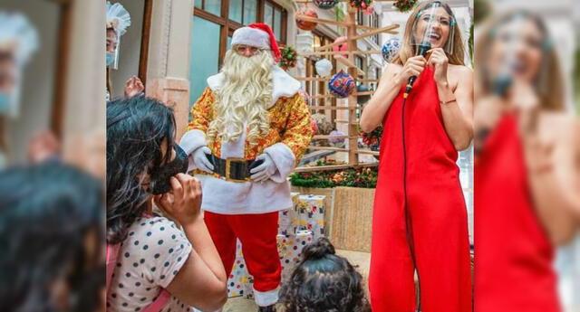 Antes de partir a México, Michelle Soifer hizo un show infantil para casi 200 pequeños en el Callao, a quienes llenó de presentes navideños.