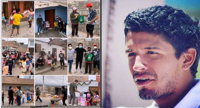 Reimond Manco llevó alegría a los niños de Lurín por Navidad | Foto: Intagram Reimond Manco/composición