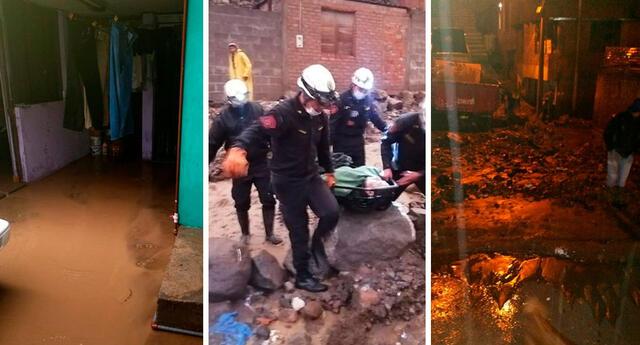 Cerca de 30 viviendas quedaron afectadas por los huaicos en las zonas de Pozo Negro, La Fabella, Cooperativa 58, entre otros.