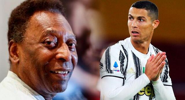 Pelé le contestó a Cristiano Ronaldo en Instagram.