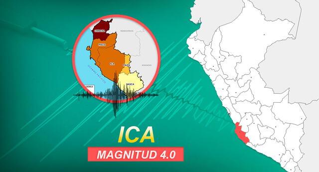 Sismo en Ica se registró a las 3:22 de la madrugada de este lunes 11 de enero, según la información de IGP.