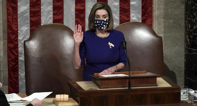 La presidenta de la Cámara Baja de EE.UU., la demócrata Nancy Pelosi.