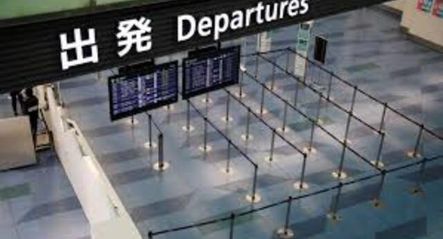 Terminal de salidas internacionales del aeropuerto Haneda en Tokio.