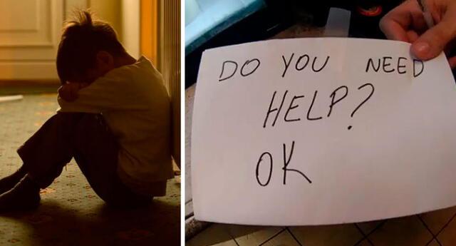 Mesera salva a niño que era maltratado por sus padres con una nota escondida