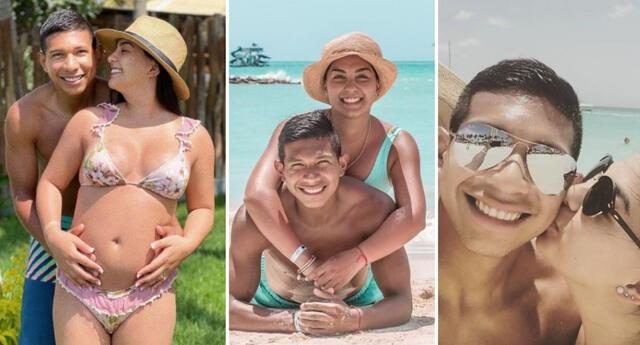 Ana Siucho y Edison Flores comparten fotografía de su pancita embarazada.