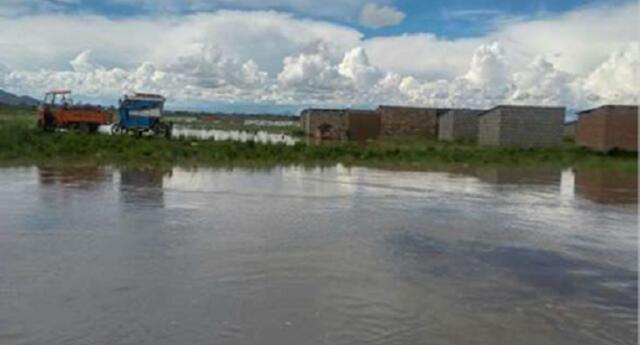 desborde del río Coata en Puno
