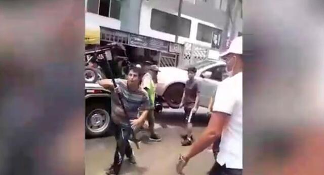 sujetos agreden a fiscalizadores en San Luis