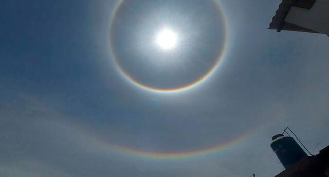 Doble halo de luz en Ica