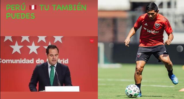 Edison Flores, volante de la selección peruana, fue noticia en las redes sociales.