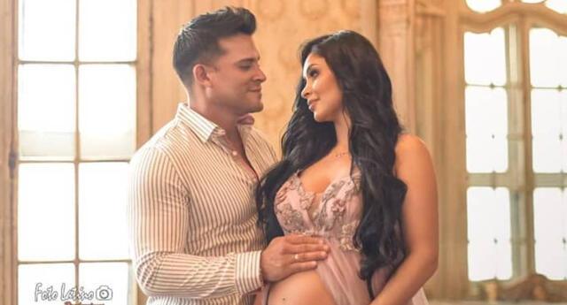 Pamela Franco y Christian Domínguez están a un  mes de la llegada de su bebé.