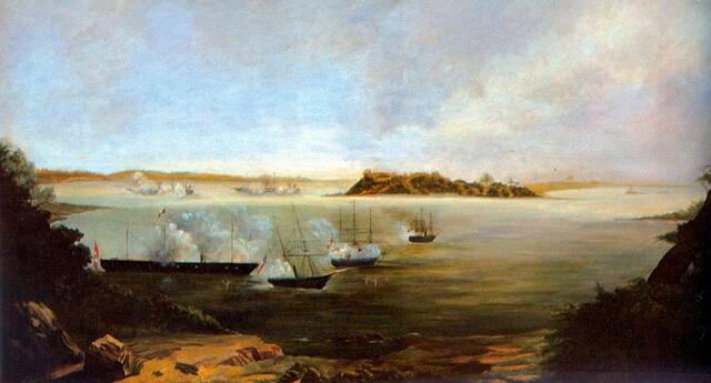 El combate de Abtao tuvo lugar el 7 de febrero de 1866 en la Isla Abtao, Chile.