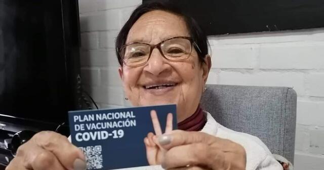 María Evangelina Criollo de Oviedo nació en Piura y tiene 86 años.