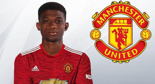 El marfileño Amad Diallo llegó al Manchester United por 21 millones de euros Amad Diallo