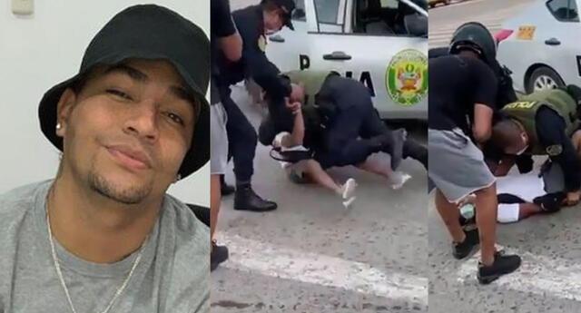 Youna denuncia violenta intervención policial en el Callao.