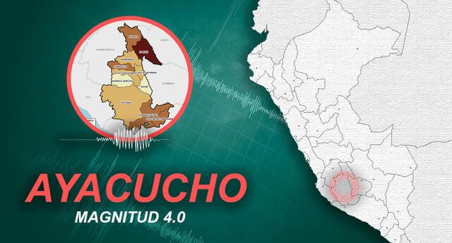 Sismo ocurrió a las 12:31 de la tarde de este lunes, según el Instituto Geofísico del Perú.