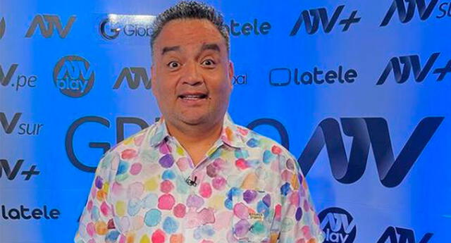 Jorge Benavides feliz de liderar el rating del último sábado.