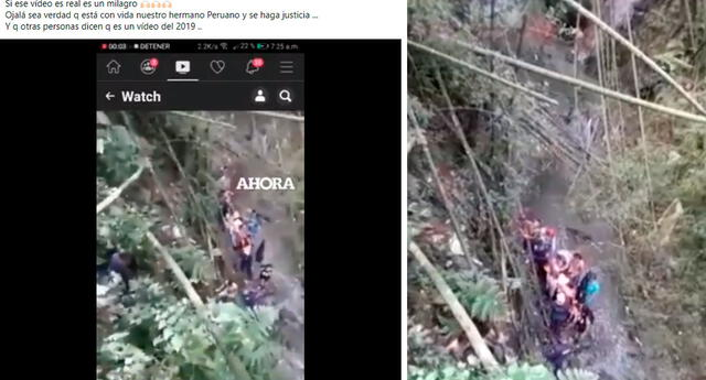 Video pertenece al rescate de un joven colombiano identificado como Johan Steven Arenas, cuyo hecho ocurrió en el año 2019.