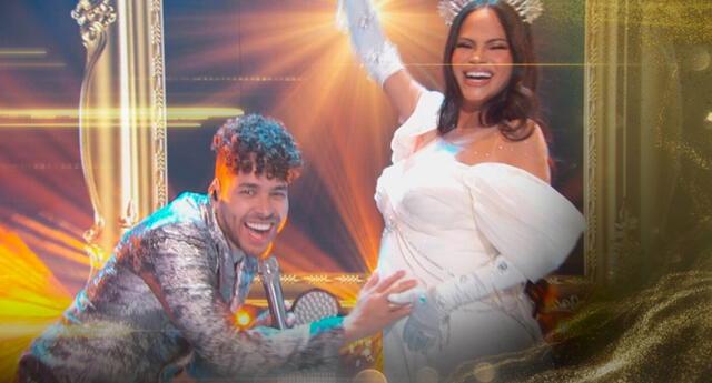 Natti Natasha asombró a sus fanáticos al mostrar su avanzado embarazo durante presentación junto a Prince Royce.