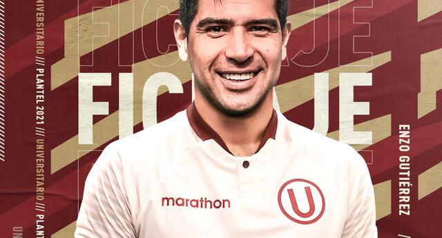Enzo Gutiérrez llega a reforzar a la 'U',  será su segunda experiencia en el Perú.