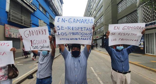 comerciantes de Gamarra exigen apertura de galerías