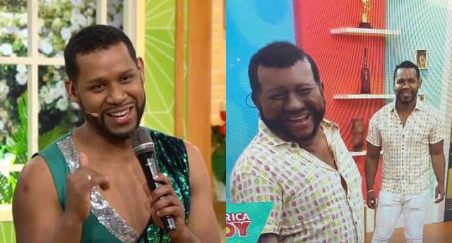'Gisebo' llegó a divertir a todos al set de América Hoy por pedido de Melissa Paredes, lo cuál no le causó gracia a Edson Dávila.
