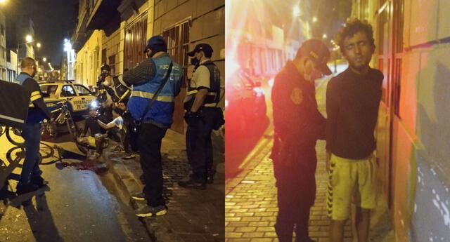 Serenazgo de Lima intervino a sujetos que asaltavan a motorizado de delivery