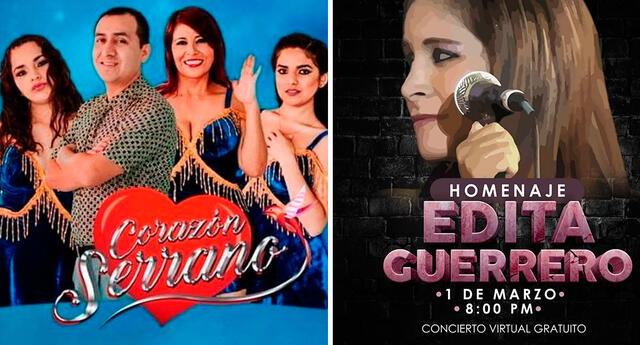 Corazón Serrano realizará homenaje a Edita Guerrero.