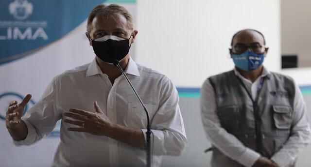 Alcalde de Lima Metropolitana, Jorge Muñoz, negó que le hayan ofrecido recibir dosis de la vacuna del laboratorio chino Sinopharm