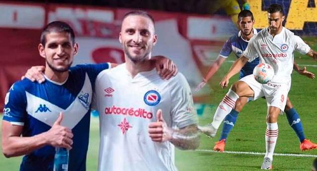 Emanuel Herrera debutó con la camiseta de Argentinos Junios.