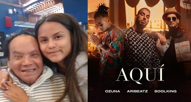 Nieta de Melcochita aparece en el nuevo video de Ozuna 'Aquí'