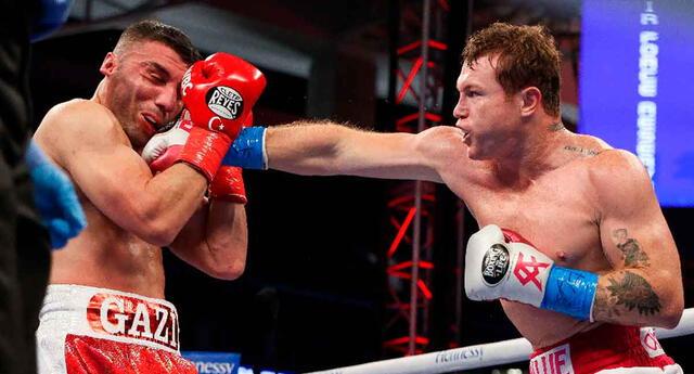 Canelo ganó con un derechazo que dejó sin respuesta a Yildirim en el tercer round.