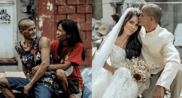 La pareja vive humildemente junto a sus seis hijos en la provincia de Pampanga.