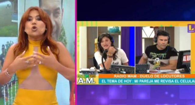 La conductora Magaly Medina no toleró que Tomate Barraza este de opinólogo en programa Mujeres al mando.