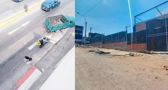 Los falsos trabajadores delivery fueron captados por cámaras de seguridad  llegando al predio en construcción
