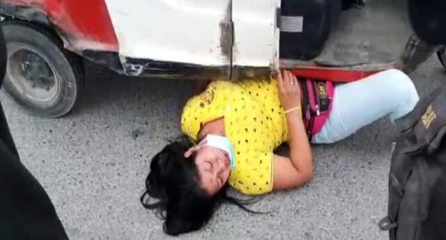 Finalmente, la Municipalidad de Surco logró decomisar la mototaxi de la pareja de esposos que no tenía documentos.