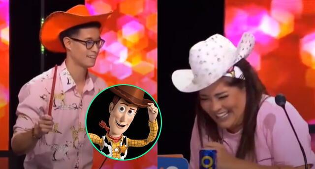 """Katia Palma intentó hacer el mismo sketch de """"Toy Story"""" con Mauri Stern y falló."""