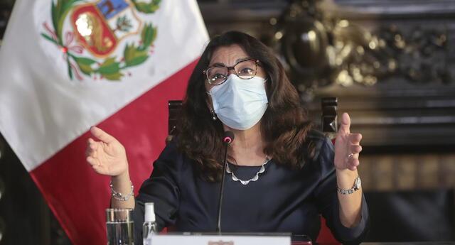 Premier Violeta Bermúdez ofreció conferencia de prensa en el marco de la segunda ola del coronavirus.