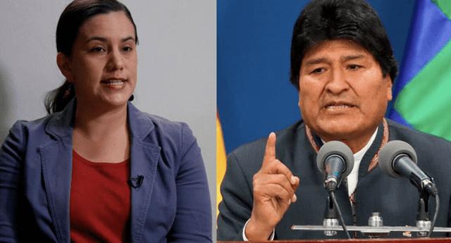 Evo Morales apoya candidatura de Verónika Mendoza a la presidencia