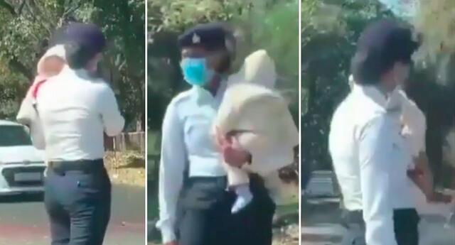 Los informes sugieren que el video fue filmado por un turista en una calle de la India.