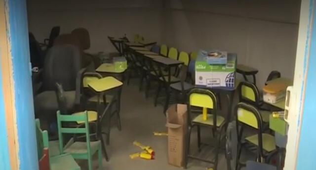Roban útiles escolares en colegio de Jicamarca a horas del inicio del año escolar