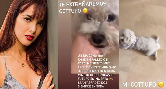Rosángela Espinoza se despide de su mascota.