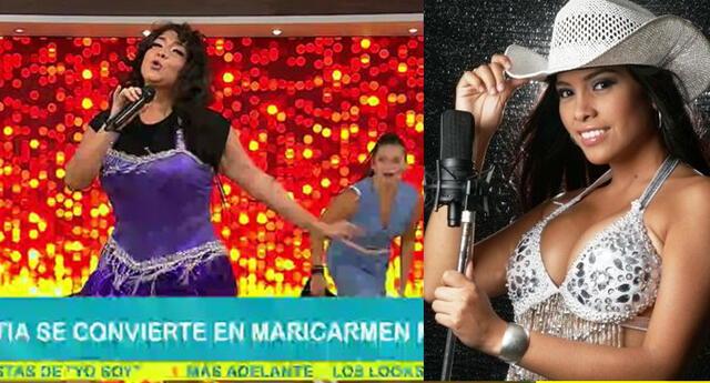 Katia Palma se convirtió en Maricarmen Marín