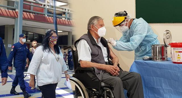 Supervisan vacunación de retirados de la Marina.
