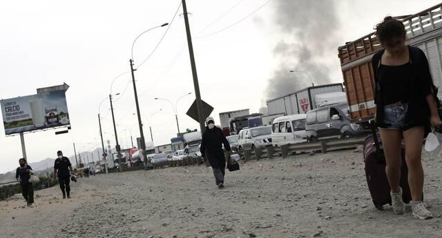 Se reportó tráfico en Ate debido al paro de transportistas de carga en la Carretera Central.