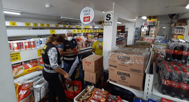 PNP realizó intervención a local de tiendas Mass en San Miguel.