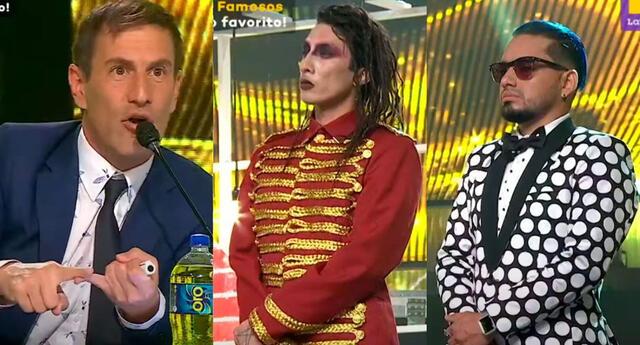 Gaona y el imitador de Marilyn Manson terminaron en zona de riesgo tras los comentarios del jurado de Yo Soy, grandes batallas, grandes famosos.