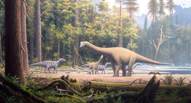 Los dinosaurios dominaron la Tierra como especie durante el jurásico, y aparecieron muchos grupos nuevos.