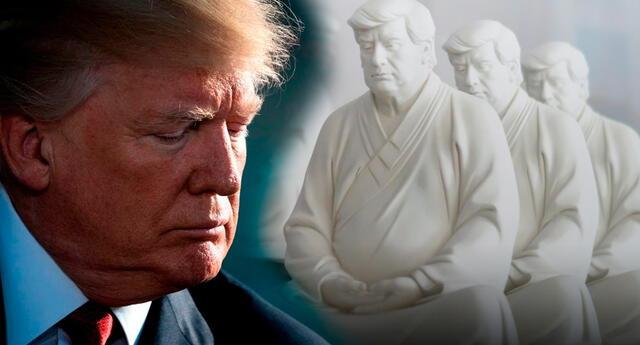 """""""La meditación es una mirada hacia adentro, donde dejas ir y dejas de luchar por la fama y la fortuna"""", dijo Hong en referencia a la personalidad de Trump."""