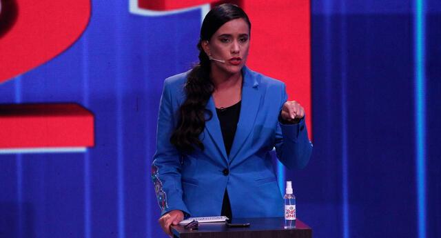 Verónika Mendoza, candidata presidencial por Juntos por el Perú.