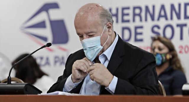 Hernando de Soto va segundo en la última encuesta realizada por IEP.